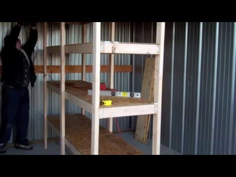 How To Build Cheap Shelves Garage Storage