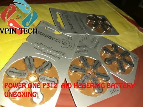 POWER ONE P312 hearing aid hearing battery , 24pcs  in india unboxing 2018