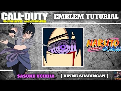IW | SASUKE UCHIHA [RINNEGAN] Emblem Tutorial | Infinite Warfare Emblem Tutorial #10