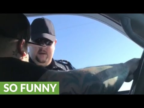 Guy makes bet with cop to get out of ticket, instantly wins!