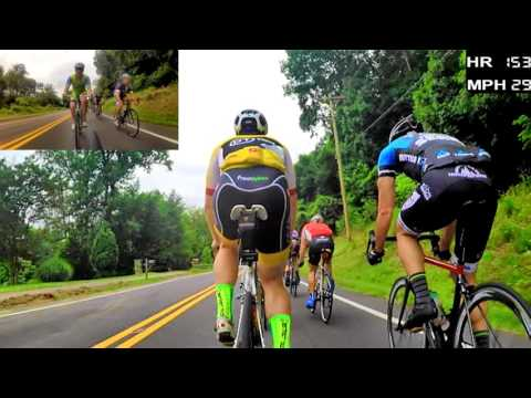 60 FPS HD Cycling Training - 50 Minute Fast Group Ride (Trainer/Rollers)