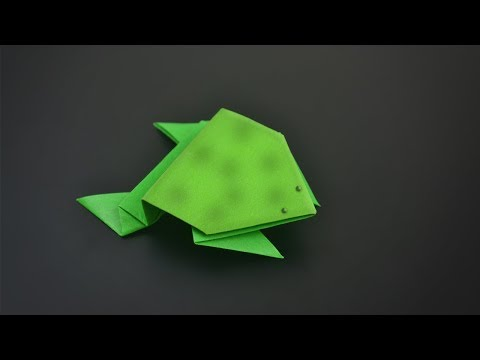 Origami: Jumping Frog - Instructions in English (BR)
