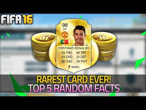 FIFA 16 | RAREST CARD ON ULTIMATE TEAM | Stacking FREE Coins - (FIFA 16 Top 5 Random Facts)