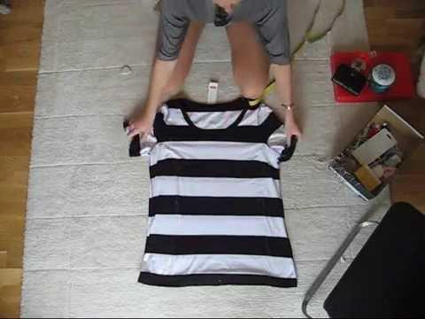 Turn a boxy T-shirt into a form fitting T-shirt!