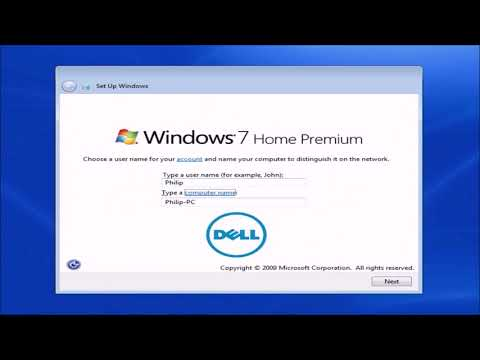 A Clean Installation of Dell Windows 7 OEM using the Dell Skylake iso