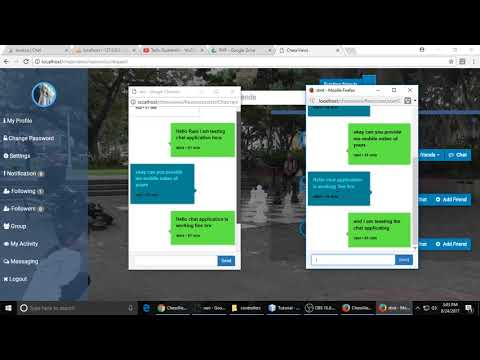 Live multi chat  aplication, learn chat application in php like facebook