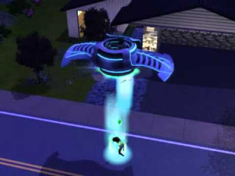 Sim getting abducted by aliens (The Sims 3)