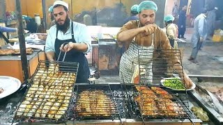 Peshawari Fish Fry, Zaiqa Restaurant Ring Road Peshawar | Zaiqa Grilled Fish | Pakistani Street Food