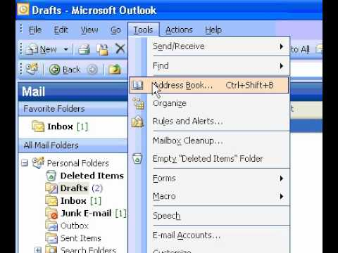 Microsoft Office Outlook 2003 Make an email account the default