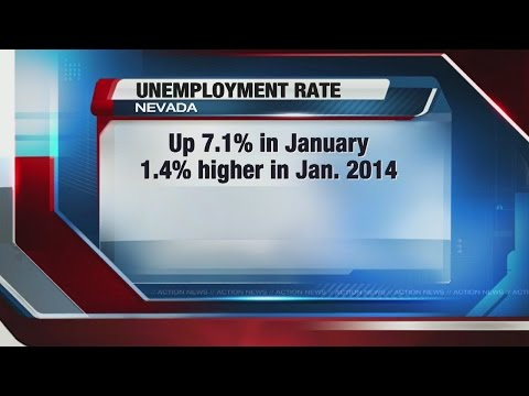 Nevada unemployment rate increases slightly for January