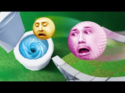 GOLFING INTO A GIANT TOILET?! | Golf It [Ep 13]