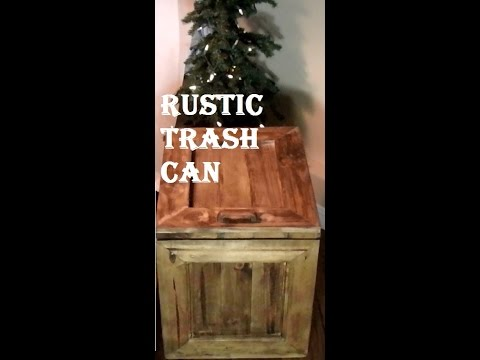 Rustic Trash Can