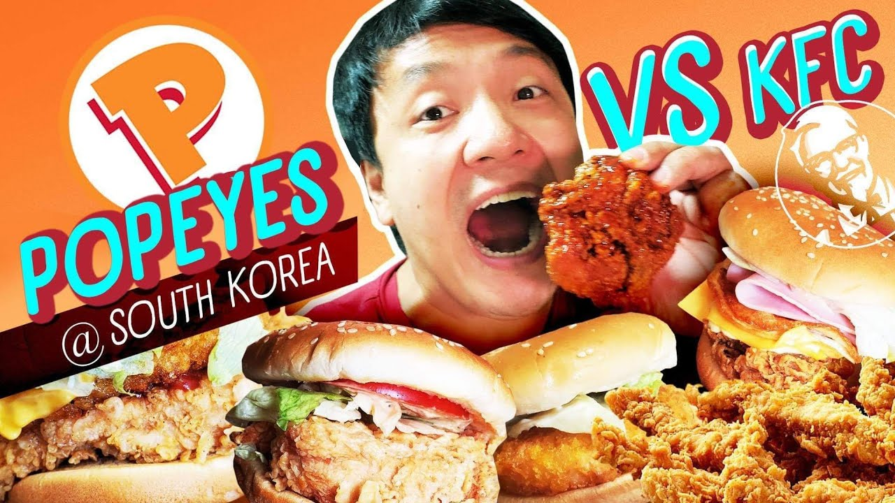 POPEYES vs. KFC in South Korea | Trying ENTIRE Popeyes Burger Menu FOOD REVIEW