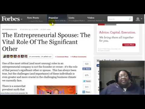 The Supportive Spouse:  The Rock of an Entrepreneur