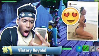 Playing Fortnite WITH My MIDDLE SCHOOL CRUSH! (Instagram Model)