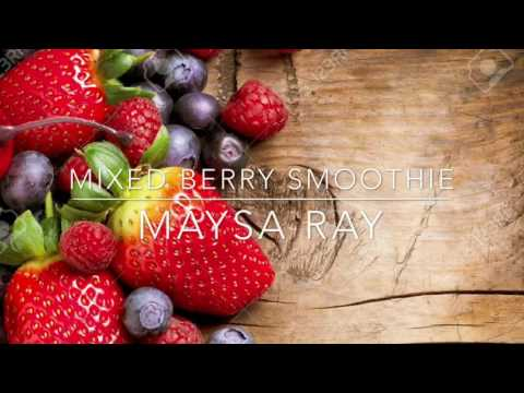 How to make a mixed berry smoothie!🍓🍇🍒