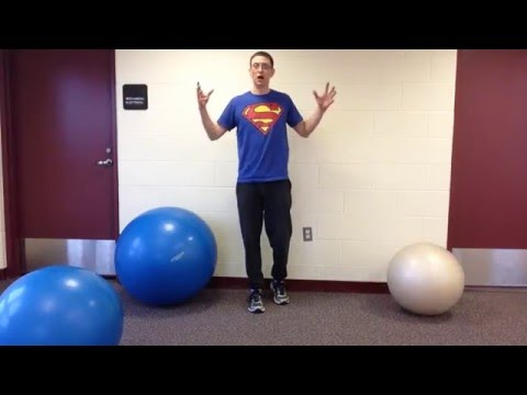 How to find the right size swiss ball for you!