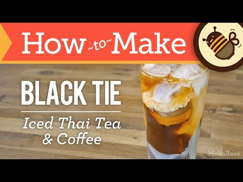 How to Make Black Tie Coffee (Thai Iced Tea & Coffee Recipe) - from Thailand