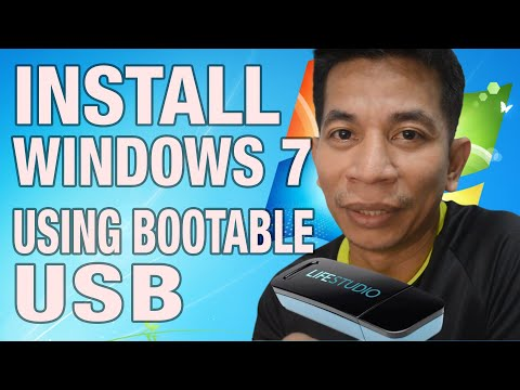 HOW TO install windows 7 using usb flash drive