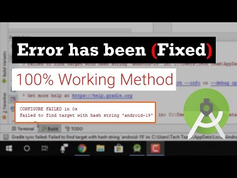 [Solved] How to Fix Failed to find target with hash string 'android-'