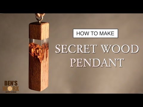 HOW TO MAKE A SECRET WOOD PENDANT NECKLACE
