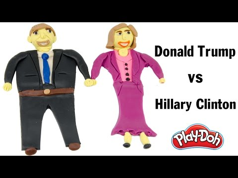 DIY How To Make 'Donald Trump vs Hillary Clinton' With Play Doh Fun For Kids