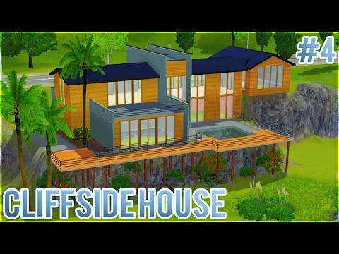 The Sims 3: Let's Build a Cliffside House (Part 4) Landscaping