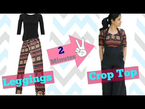 Convert your Old Leggings into Crop Top in 2 minutes