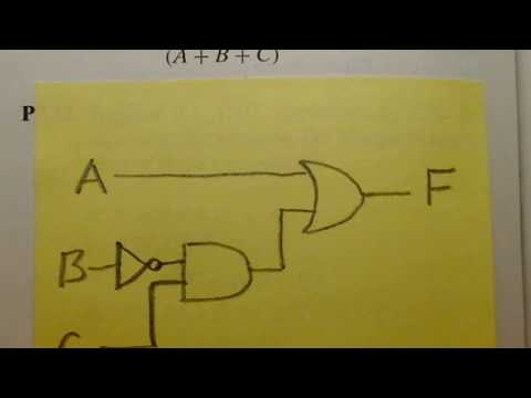 How to Draw a Circuit for a Boolean Expression - EGR215 - P7.32(a)