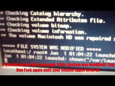 How To Fix Mac Stuck At Boot Screen Using Single-User Mood...(A must watch for apple users)