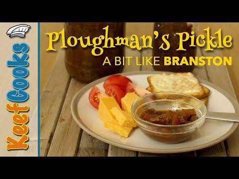 Homemade Ploughman's Pickle - Chunky Vegetable Pickle Like Branston #keefcooks