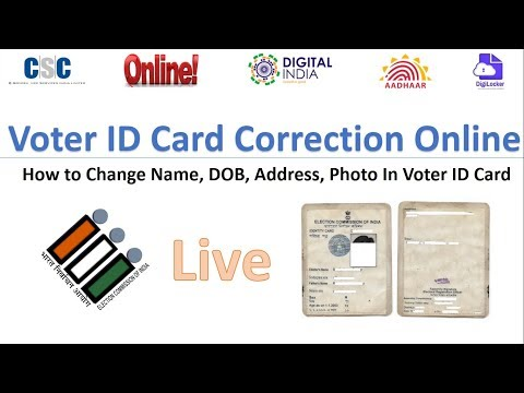Voter ID Card Correction Online ..How to Change Name, DOB, Address, Photo In Voter ID Card