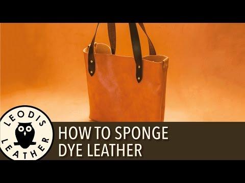 How to Sponge Dye Leather