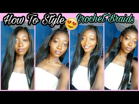 4 Super Easy Straight Crochet Hairstyle || Outrè Kanekalon Hair || Back To School Hairstyle