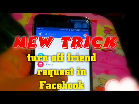 How to turn off Facebook friends request in mobile