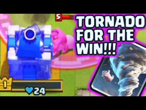 LVL. 1 in ARENA 7. Why I replaced ZAP with TORNADO? TORNADO is OP | Clash Royale