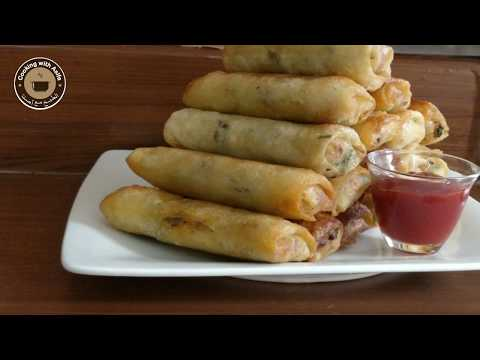Supreme Quality Spring Roll | چکن اور سبزیوں کے رول | Chicken spring rolls with homemade wrappers-