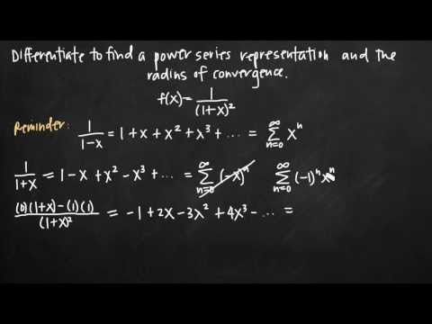 Power series differentiation (KristaKingMath)