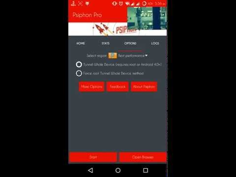 how to set proxy in psiphon