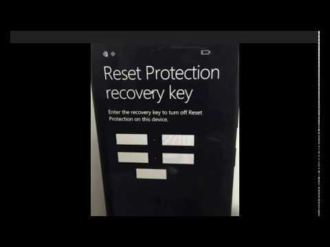Lumia 640 Reset Protection Key Bypass