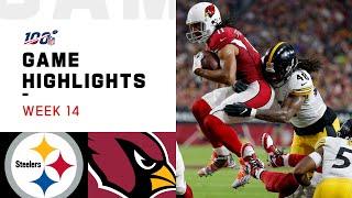 Steelers vs. Cardinals Week 14 Highlights | NFL 2019