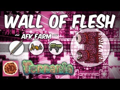 Terraria AFK Wall of Flesh Farm (1.3 bosses)