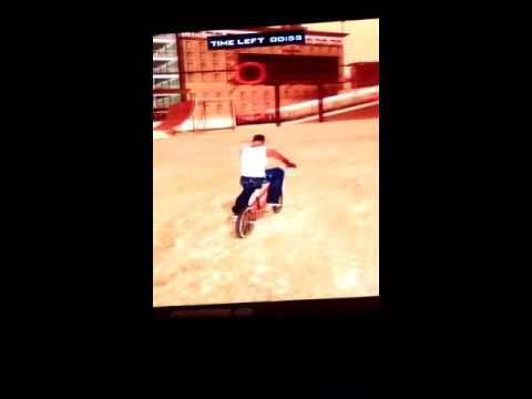 Gta San Andreas bmx tricks part 1