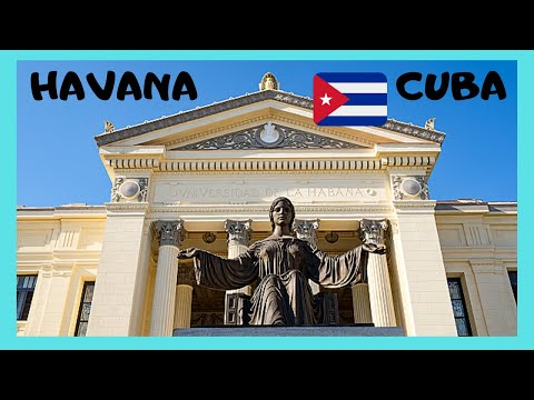 CUBA: The campus of THE UNIVERSITY OF HAVANA (UNIVERSIDAD DE LA HABANA)