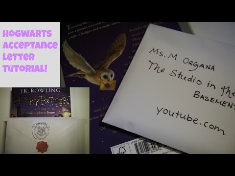 Hogwarts Acceptance Letter Tutorial ✦ Witchcraft and Wizardry Wednesday Ep. 9