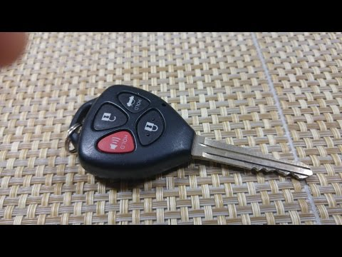 How to Replace keyless entry key fob battery on a Toyota Corolla Avalon Venza remote key FCC GQ4-29T