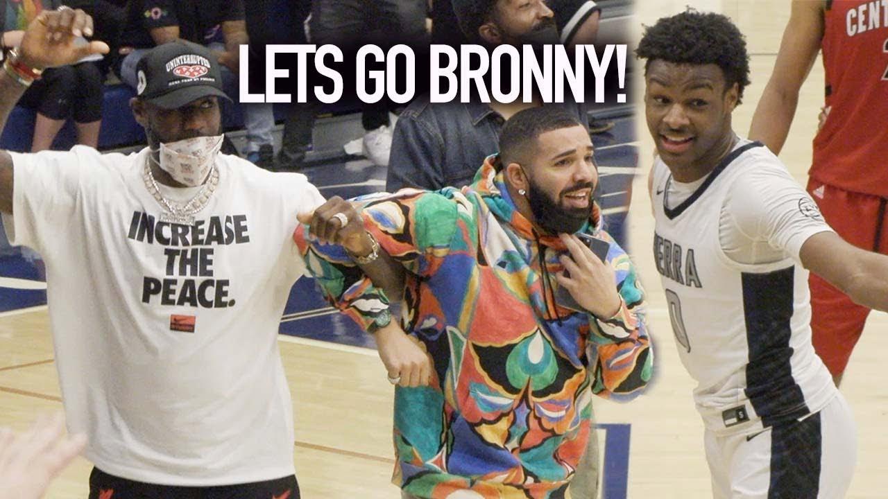 Bronny's BACK! LeBron & Drake Can't Believe Amari Bailey Dunked On Defender!