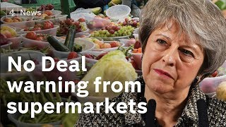 EU warns 'very high risk' of No Deal Brexit – as supermarkets speak of shortages