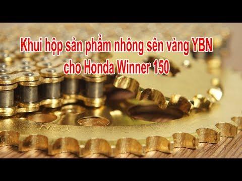 Khui hộp nhông sên vàng YBN cho Honda Winner 150