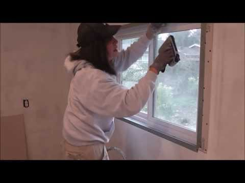 Drywall Technique..How to Create Trimless Windows